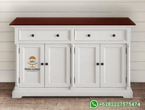 Bufet Minimalis Putih Duco